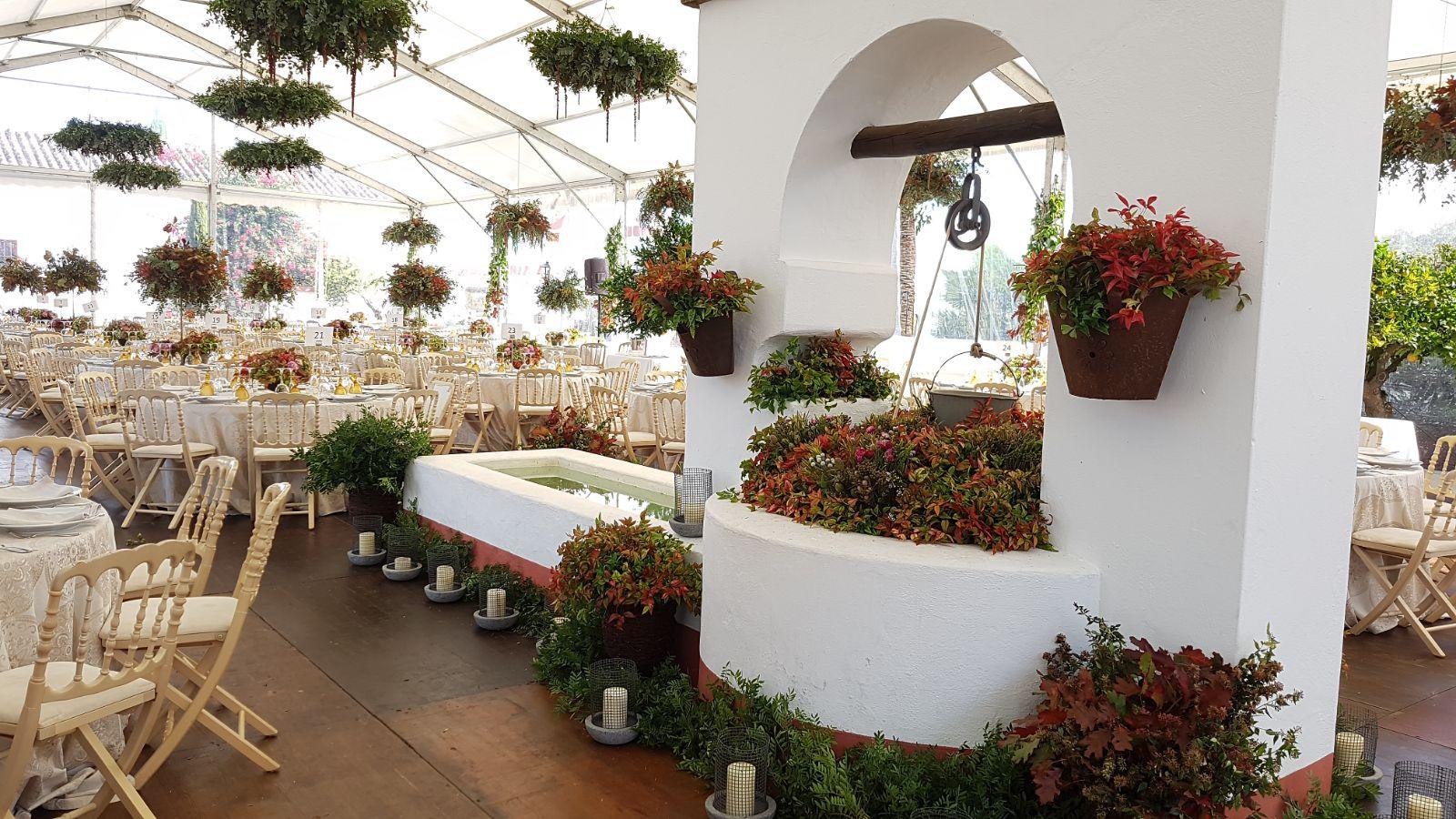 Decoraci n de boda oto al c rtamo flores florister a - Decoracion sevilla ...