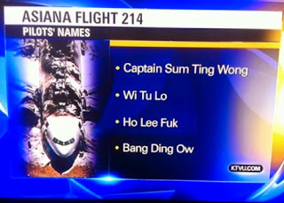 captain sum ting wong, wi tu lo, ho lee fuk bang ding ow asiana flight crew names funny
