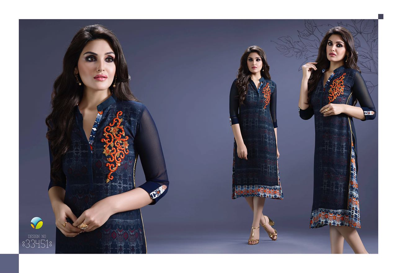 Tumba Vol 6 – Georgette Embroidery Best Price Kurti Surat India