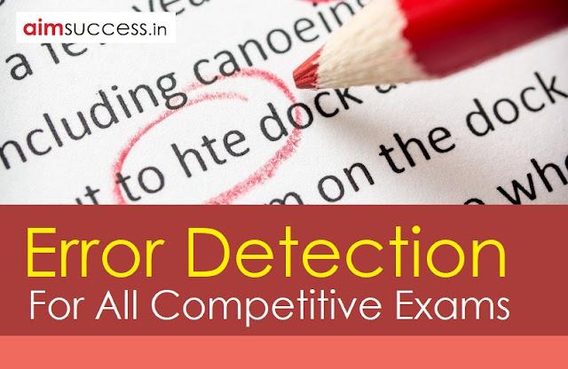 Error Detection for SBI PO/ Clerk 2018: 05 May