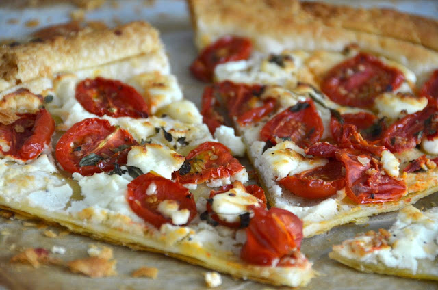 GOATS CHEESE AND TOMATO TARTE