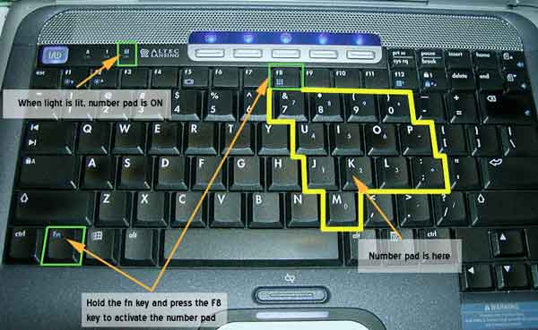 Turn On Number Lock On A Laptop Hardware Technical Support