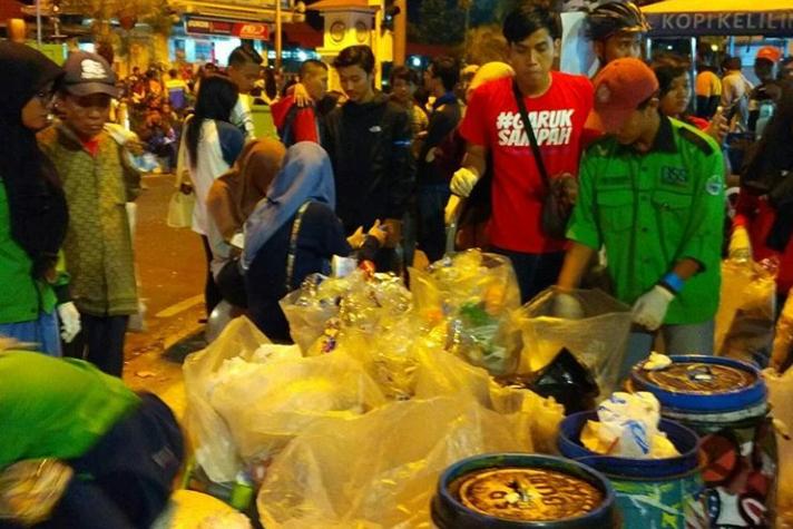 Ratusan Kilogram Sampah Malam Tahun Baru Berhasil Dikumpulkan Relawan Jogja Garuk Sampah