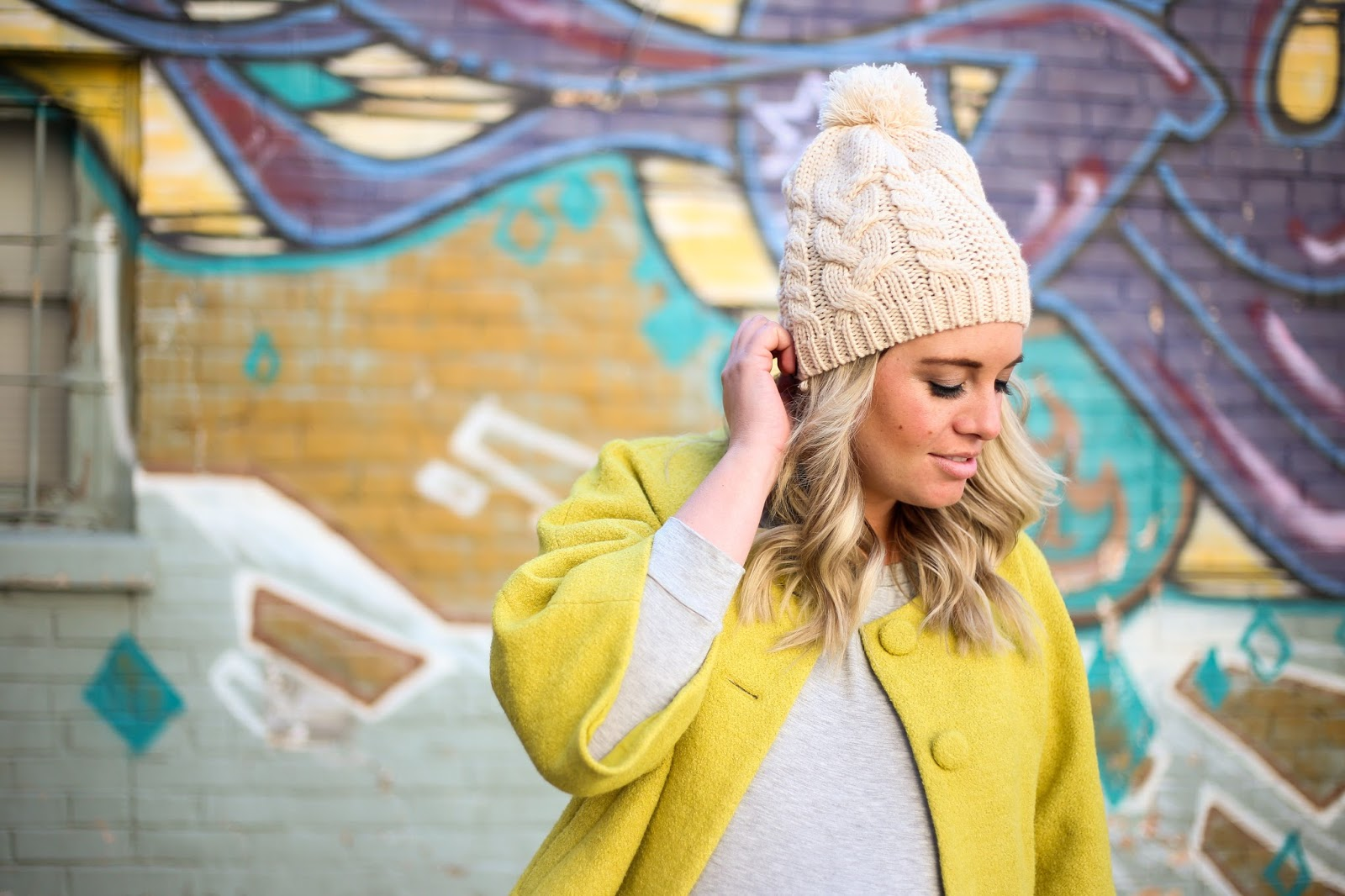 Pom Pom Beanie, Utah Fashion Blogger