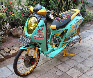 modifikasi honda scoopy drag 2017