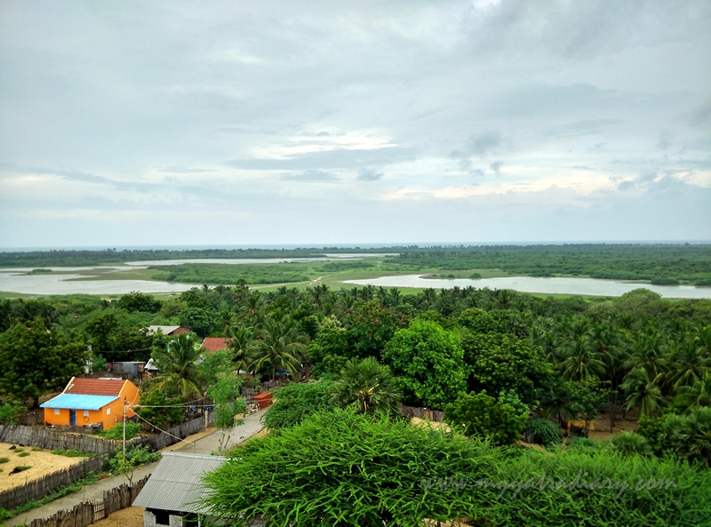 Panoramic view from Gandamadana Parvatham of Rameshwaram