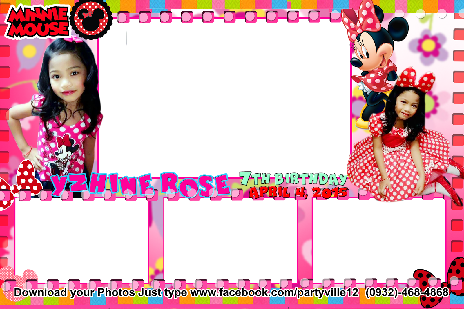 Minnie Mouse Photo Booth Template
