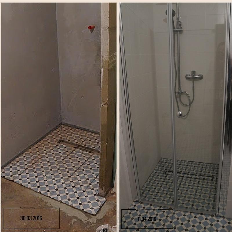 remont łazienki, sposoby na małą łazienkę, płytki vives paleu celeste