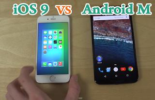 ايهما اسرع Android M أم iOS 9
