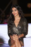 Pooja Hegde looks glamarous in deep neck sleevless short tight golden gown at Duvvada Jagannadham thank you meet function 070.JPG