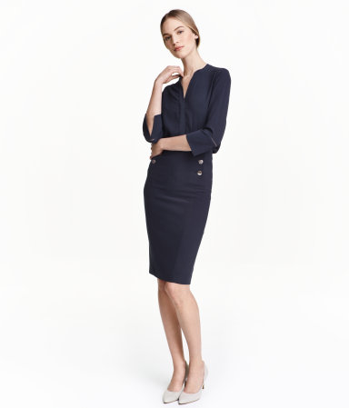 Spring/Summer Capsule Wardrobe: Five Bottoms for Work from Honey and Smoke Studio // Pencil Skirt from H&M