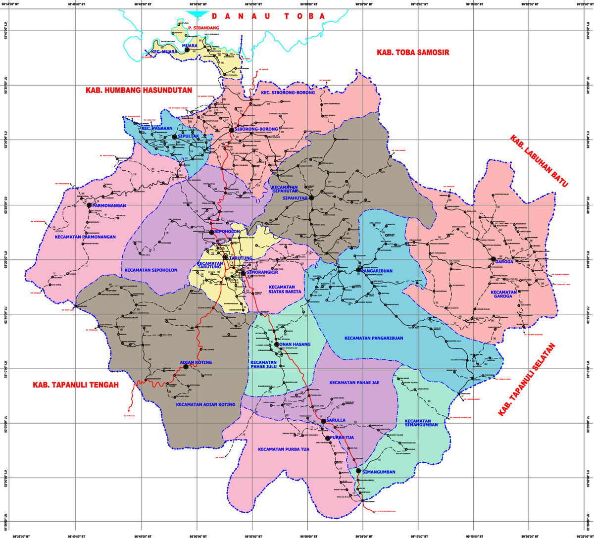 Batak People: Provinsi Tapanuli: Pemekaran Kabupaten