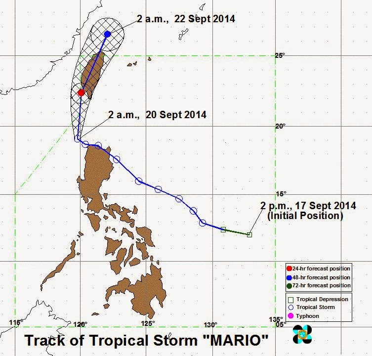 Bagyong Mario moving Northwest of Laoag City and Ilocos Norter (September 20)