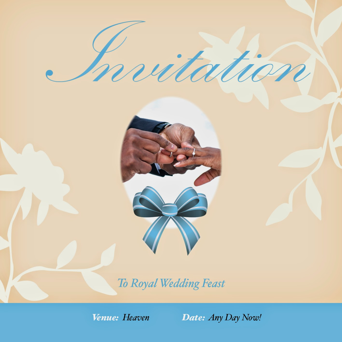 Home Printable Wedding Invitation Evangelism Tract This Free African American