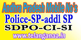 Nellore Potti Sriramulu District Police Officers Mobile Numbers AP State