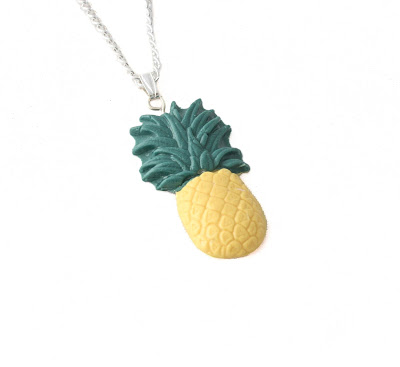 Pineapple Charm Necklace at Lottie Of London Jewellery