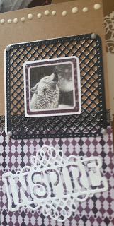 Inspire! - Wolf card (from the Moonlight kit from Pollyanna Pickering DL card