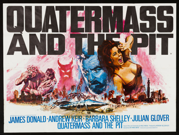UK quad poster for Quatermass and the Pit