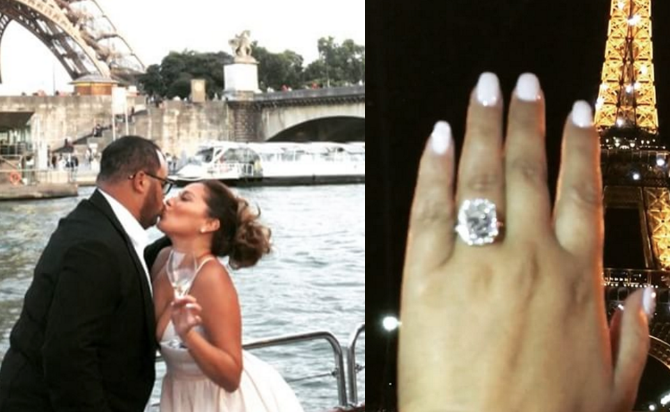 9820bedebe1 Last month gospel music star Israel Houghton secretly flew fiancé Adrienne  Bailon s parents to Paris to witness his surprise wedding proposal  click  here if ...