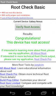 android Root Checker App root or not