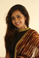 Lasya looks super cute in black choli Saree at Raja Meru Keka Press Meet ~  Exclusive 076.JPG