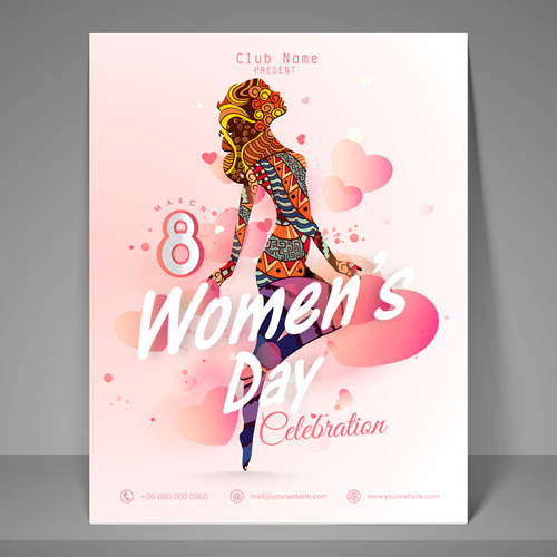 Vector poster 8 march womens day Free vector