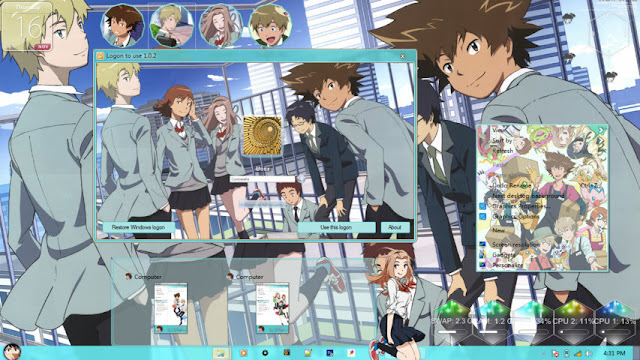 Digimon Adventure Tri. Theme Win 7 by Enji Riz Lazuardi
