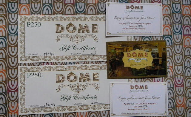 dome cafe review, dome loyalty card,