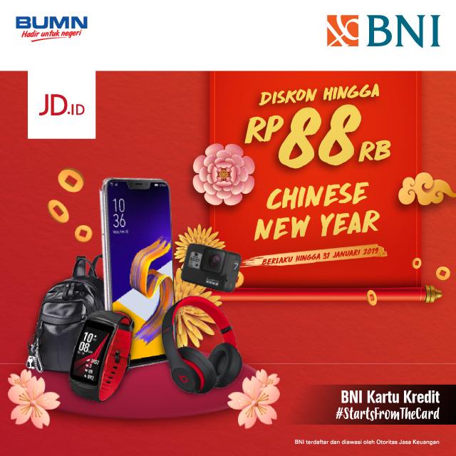 #BankBNI - #Promo Diskon s.d 88 Ribu di JDID Pakai Kartu Kredit (s.d 31 Jan 2019)