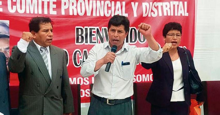 PEDRO CASTILLO: Dirigente anuncia reinicio de huelga magisterial en 2018