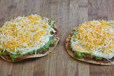 Vegetarian Seven-Layer Tostadas found on KalynsKitchen