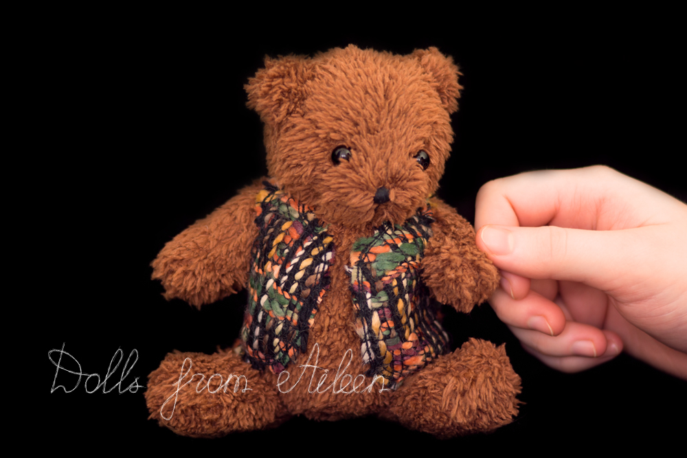 OOAK artist teddy bear with human hand