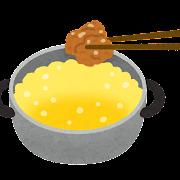 料理の「揚げる」のイラスト(唐揚げ)