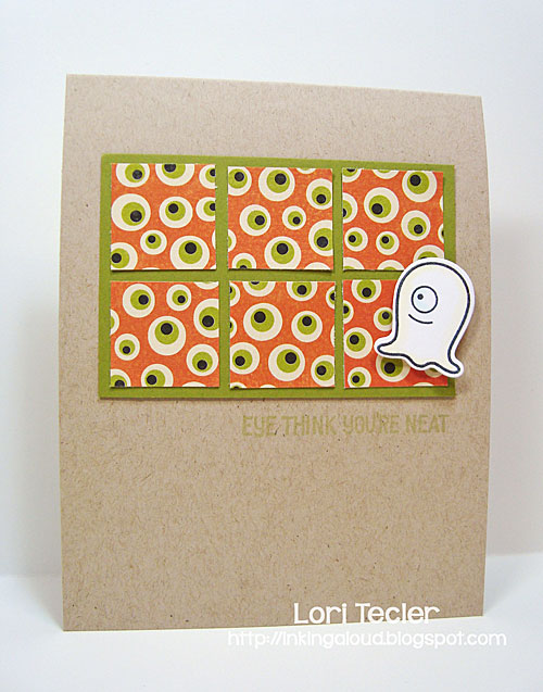 Eye Think You're Neat card-designed by Lori Tecler/Inking Aloud-stamps and dies from Lawn Fawn