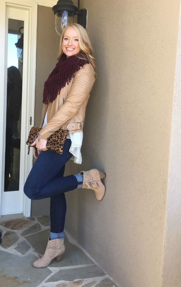 Quilted leather jacket, treasure and bond, leather jacket, camel leather, clare v clutch