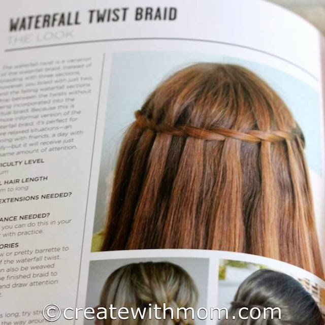 hair styling waterfall twist