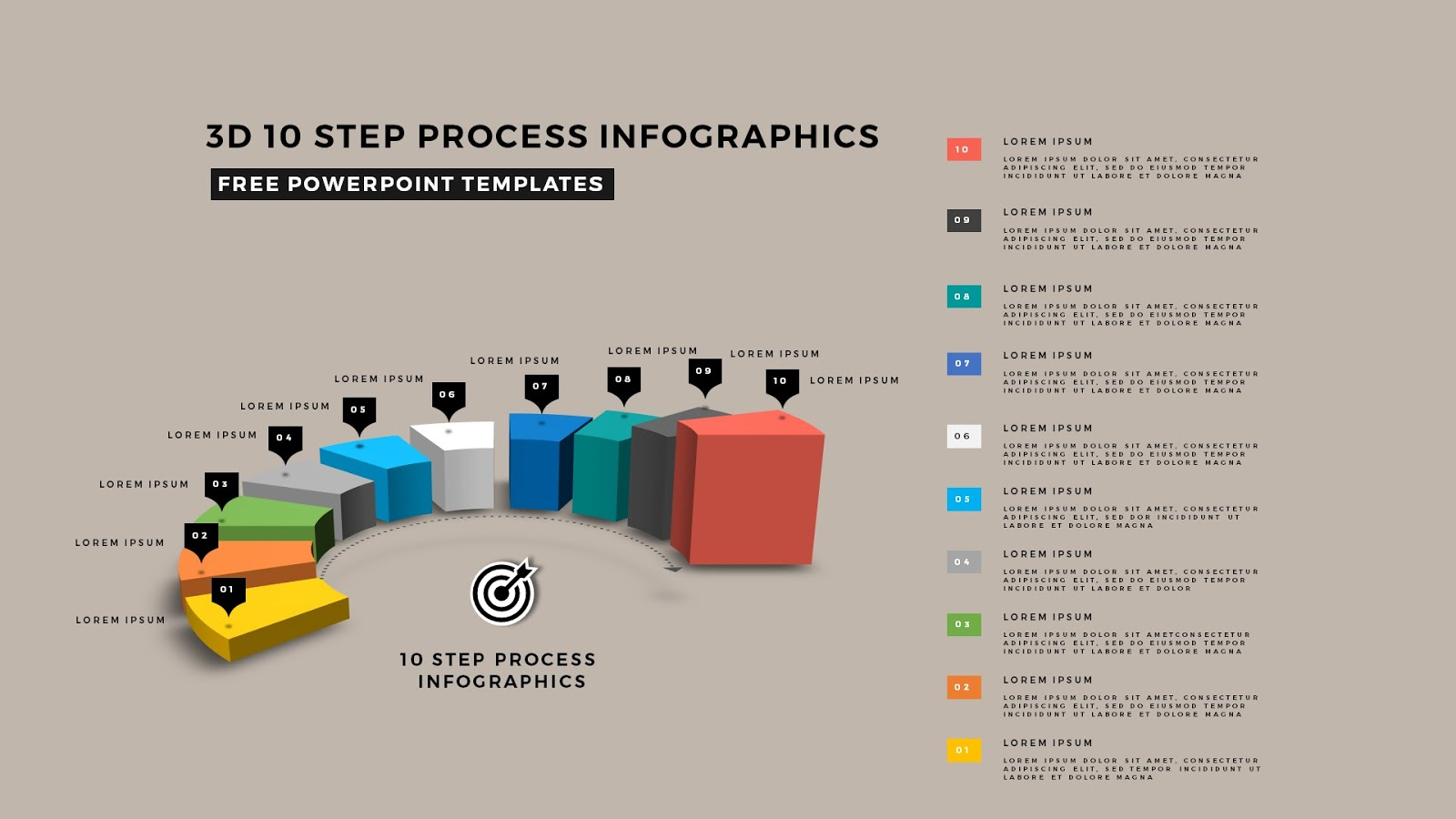 multi step 3d circular process diagram infographics, Modern powerpoint