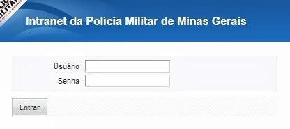 INTRANET PMMG - ESTADO DE MINAS GERAIS - LOGIN E SENHA - EMISSÃO DE CONTRACHEQUE
