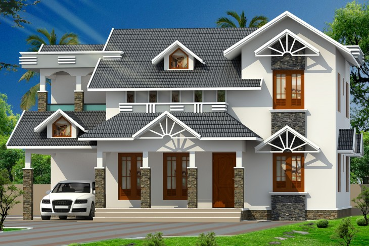 2244 Sqft 4BHK Double storey Home Design