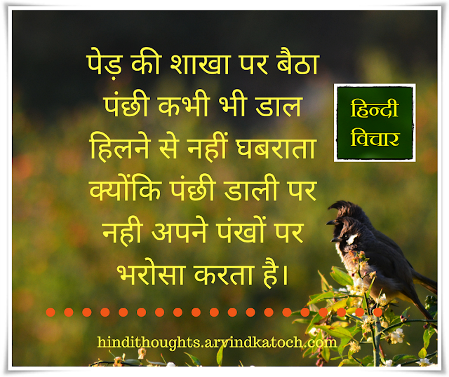 Bird, tree, branch, panic, movement, wings, Hindi thoughts,