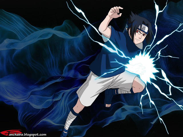 Sasuke using Chidori