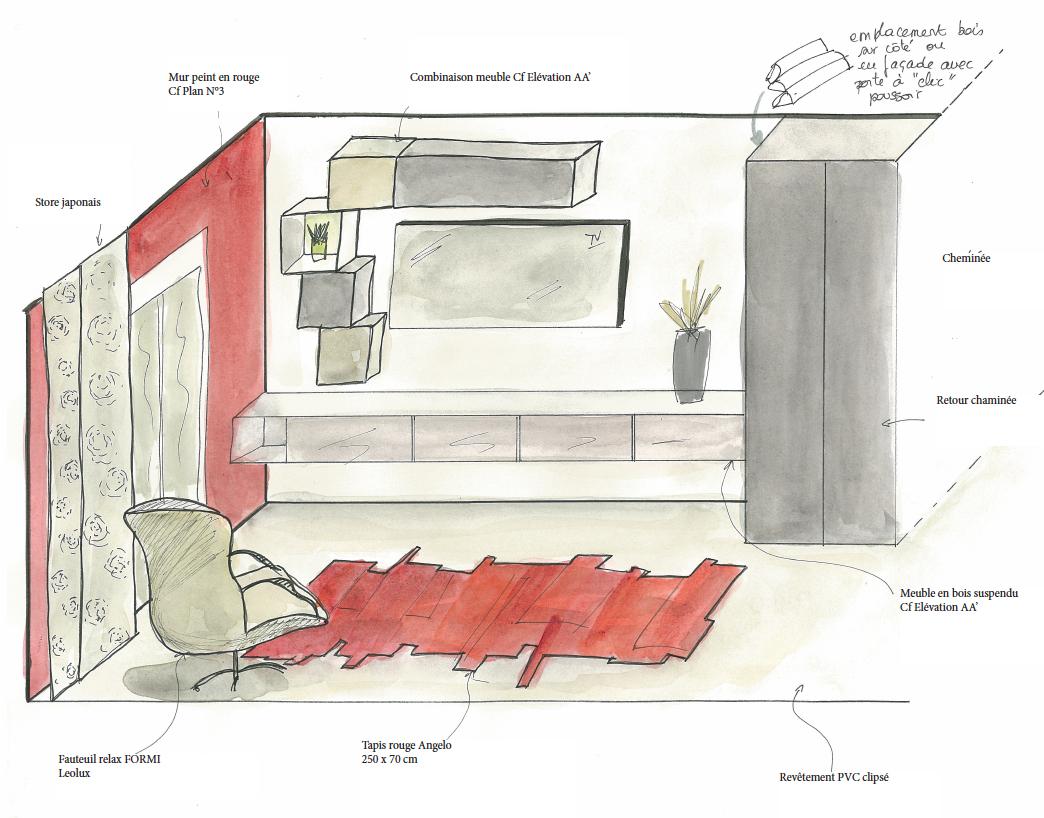 Beautiful Chambre En Perspective Cavaliere Ideas - House Design ...