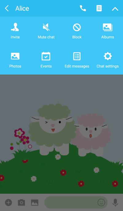Cute sheep theme vr.1