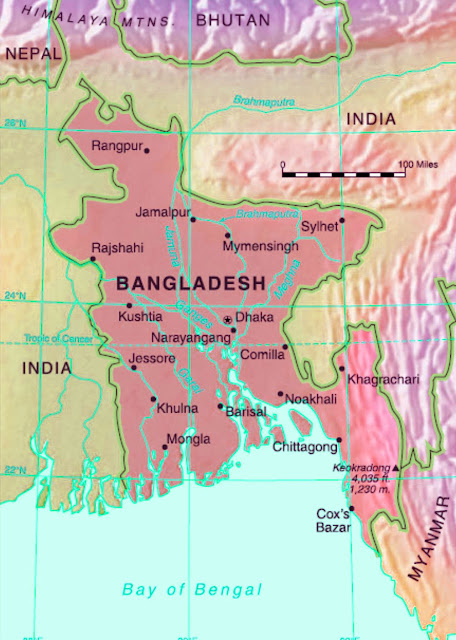 Gambar Peta Negara Bangladesh