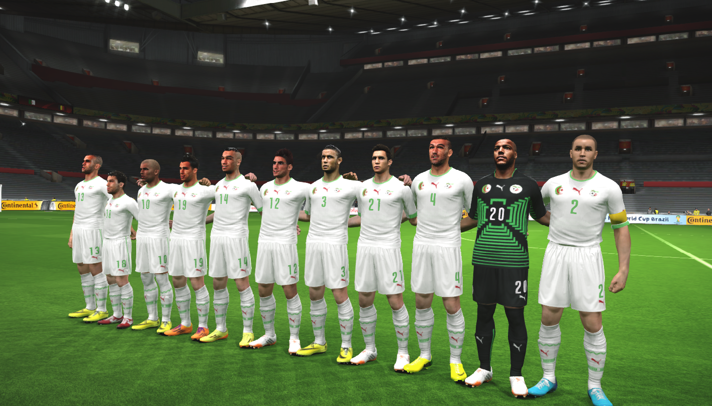 PES2014 Algeria World Cup Facepack By DzGeNiO - Pro Evolution Soccer