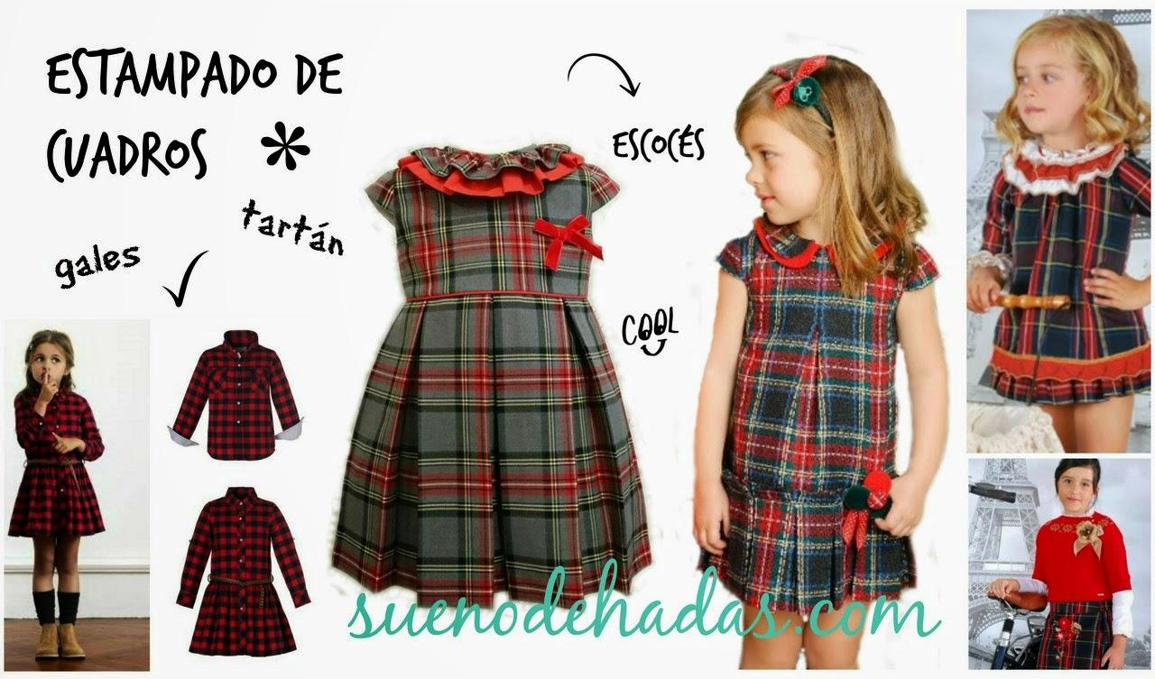 Estampado tartan escoces - Básicos de invierno moda infantil