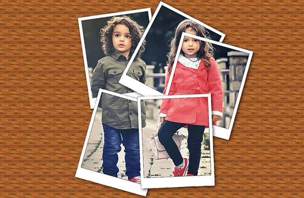 picture editing turn a photo into a collage of polaroids in gimp
