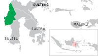 Peta wilayah Provinsi Sulawesi Barat