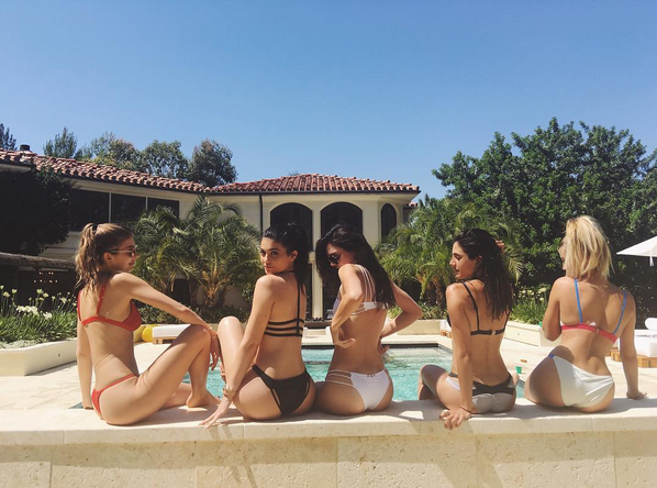 Kylie ,Kendall Jenner and friends flaunt hot bikini bodies
