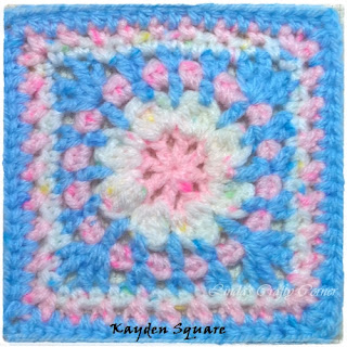 crochet square block free pattern easy cute cal child baby charity